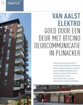 Van Aalst Elektro Breda goed door een deur met Bticino deurcommunicatie in Pijnacker